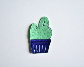 Cactus Family Iron on Patch // Funny Cactus Drawing // Cactus Plant // Cactus // Patch // Patches for Jacket // Cute Patch