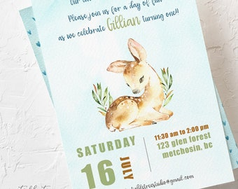 Birthday Party Invitations - Our Little Deer is Growing Up (Style 13780)
