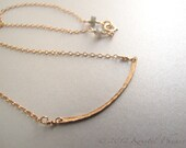 Gold Bar Necklace - hamme...