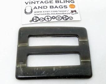 50x61mm Vintage buckle, taupe buckle, art deco buckle, art deco, buckle, lucite buckle, belt buckle, vintage belt buckle, vintage buckle #48