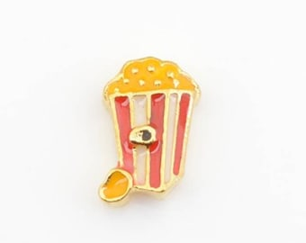 Popcorn Floating Charm for Glass Memory Locket FC20 - 1 Charm Web