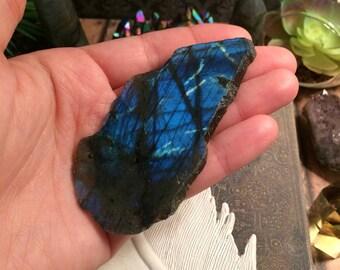 Labradorite slab // labradorite chunk // spectrolite // polished labradorite // rough labradorite // flashy labradorite