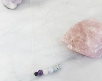 The Revival•Minimalistic EO Diffuser & Healing Crystal Necklace