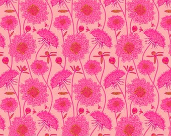 Sweet Dreams by Anna Maria Horner for Free Spirit - Lacey - Bubblegum - 1/2 yard Cotton Quilt Fabric