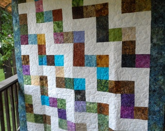 Zig and Zag Lap Quilt
