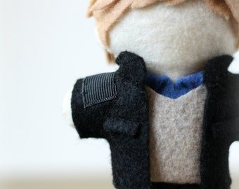 "Dr. Watson inspired plush doll - ""Officially Unofficial"" Plush - Felt Doll, Hand Sewn"