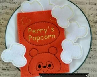 Play Food – Felt Popcorn Snack - Pretend Play Food Set – Learning Toy – Preschool Toy – Popcorn - Felt Food – Bento Play Food