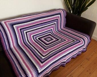 Purple Throw Blanket Purple Blanket Throw For Sofa Blanket Throw Boho Blanket SAVE 30% & FREE SHIPPING