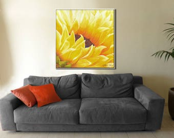 Large Wall Art, Flower Canvas Art, Contemporary Art, Paintings on Canvas, Modern Canvas Art, Modern Painting, Large Painting, New Home Decor
