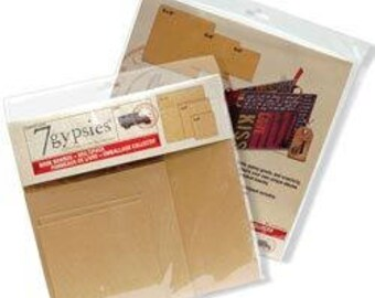 """Brand New 7 Gypsies Book Boards Multi Pack 6""""X6"""", 8""""X8"""", 12""""X12"""" Unopened Retired"""