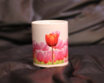 Ceramic Mug with Tulips