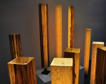 Floor lamp standard wood veneer led firewood design