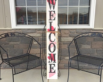 Valentine's Day decor, Rustic welcome signs, Welcome porch signs, Front porch decor, Rustic welcome signs, Front porch wood welcome signs