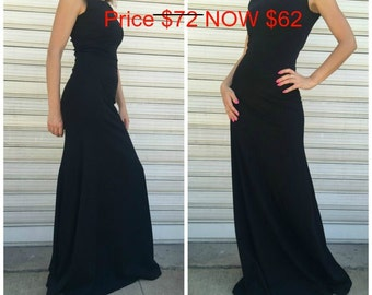 Black Sleeveless Dress / Long Elegant Dress / Maxi Party Dress / EXPRESS SHIPPING