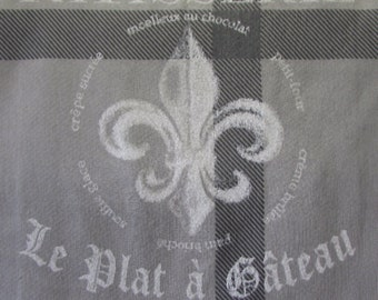 PATISSERIE Fleur De Lis  26x26 pillow front dining chair or cushion  upholstery fabric