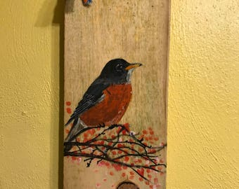 Rustic Robin Painting