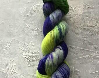 Hand Dyed Yarn - Fingering weight Yarn - OOAK 162 - merino
