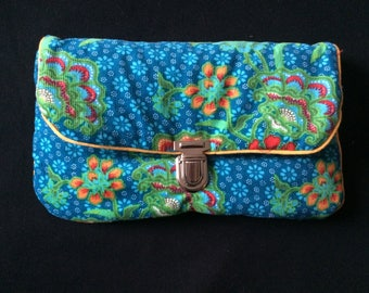 Pouch / floral tote bag