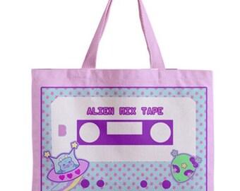 Alien Mix Tape, Retro Fairy Kei Cassette Bag, Casette Bag