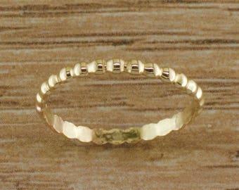 Bead - Thumb Ring - Thumb Rings - Minimalist Rings - Gold Thumb Ring - Gold Ring - Stacking Ring - Dainty Ring - Simple Ring - Midi Ring