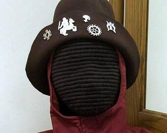 Felt Hat with Pilgrim Badges - Gothic Hood - Renaissance - SCA