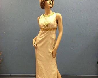 60's silk rayon dress