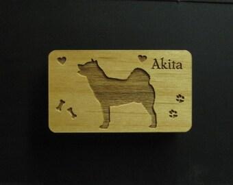 Original Design Akita Wood Magnet