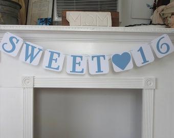 Sweet 16 Birthday Banner