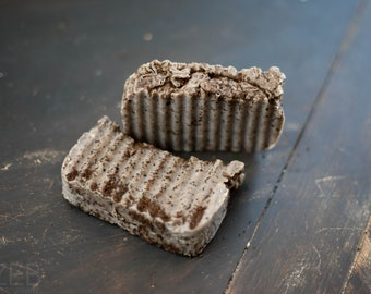 All Natural Coffee Coconut Oil Hot Process Bar Soap