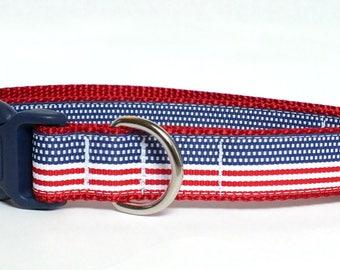 American Flag Patriotic Dog Collar, memorial day