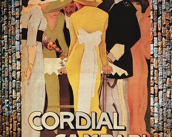 Cordial Campari Vintage Liquor Ad, Fashion Ad, Liquor Ad, Restaurant Art, Liquor Print, Vintage Art, Giclee Art Print, fine Art Reproduction