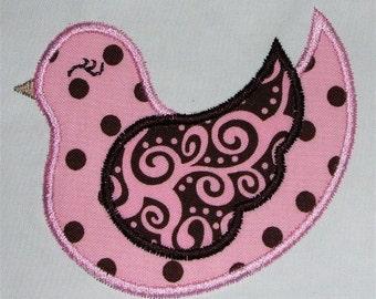 INSTANT DOWNLOAD Fancy Bird Applique Designs 4x4 and 5x7 hoop Machine Embroidery