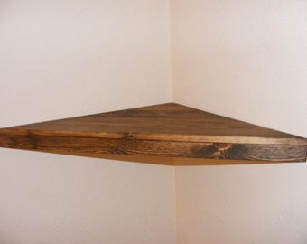 Rustic Floating Corner Shelf
