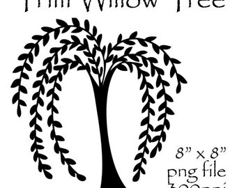 Prim Willow Tree Clipart, Primitive Willow Tree, Prim Clipart, Prim  Graphics, Primitive