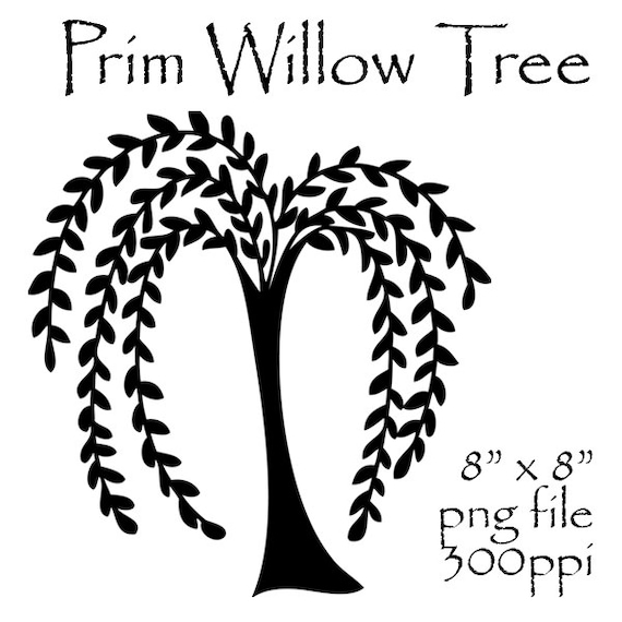 prim willow tree clipart primitive willow tree prim clipart rh etsy com willow tree clipart black and white weeping willow tree clipart