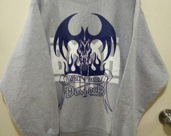 Vintage 90s Devilock collaboration Bounty Hunter Sweatshirt Rare