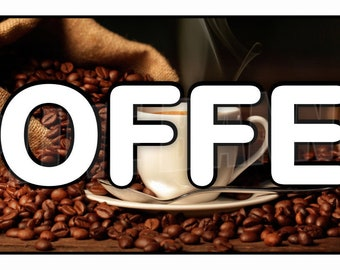 Coffee House Banner Sign Fresh Brewed Espresso To Go 14oz Vinyl Flag -- MULTIPLE SIZES