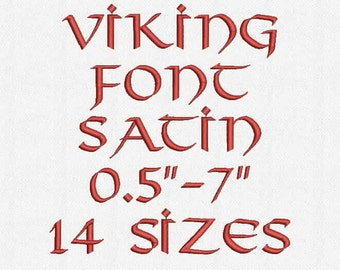 Viking Font 14 Sizes Embroidery Design