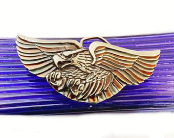 1980 Indiana Craft Vintage Belt Buckle with American Eagle, Men's Belt Buckle, Men's Accessories, Belt Accessories, Belts and Buckles