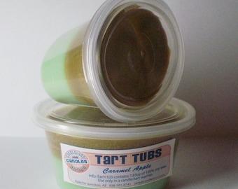 Two Large Soy Tart Tubs - CARAMEL APPLE