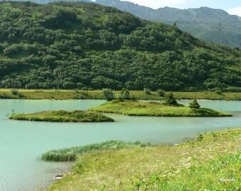 Original laminated placemat Austria 2 Mountain Lake