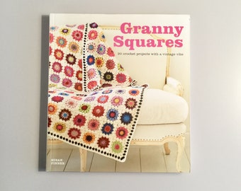 Granny Squares crochet book used craft book used book
