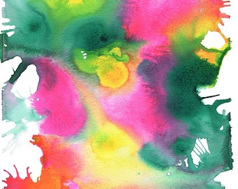 Spring Abstract Art Print