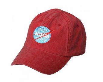 FREE Shipping - NASA Today & Tomorrow Washed Cotton Cap *New Black vs Red