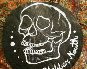 Blabber Mouth Hand Painted Leather Patch