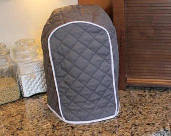 Keurig Cover 300+ color combos in 4 Sizes - Gray/White Trim Shown - Great Gift for Brides/Mother's Day!  Gift Under 30