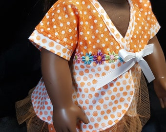 """18"""" Doll Spring Wardrobe in Tangerine and Dots!"""