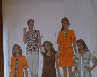 Butterick B5618, size 12-20, UNCUT sewing pattern, craft supplies, unlined jacket, top, dress, pants, misses, womens