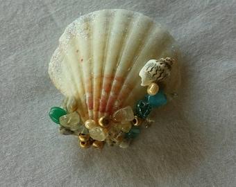 Mermaid Sea Shell Barrette