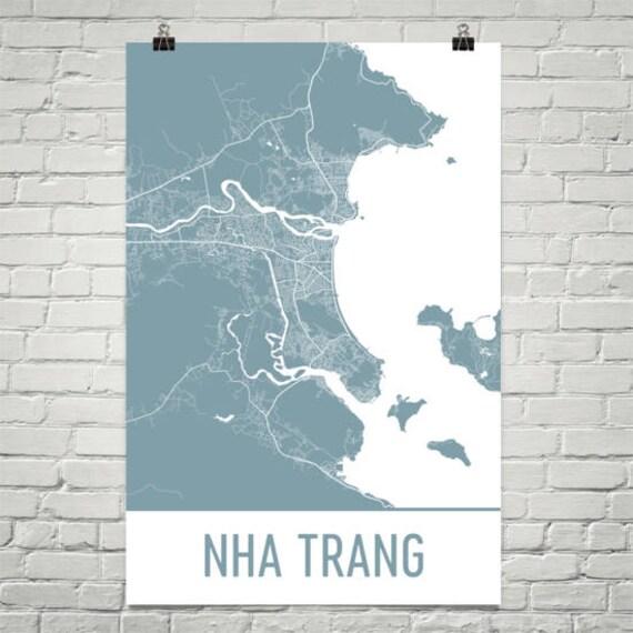 Nha Trang Map Nha Trang Art Nha Trang Print Nha Trang